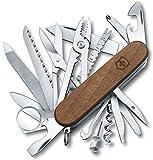 Couteau de poche Victorinox Swiss Champ Wood (29 fonctions, scie à bois, ciseaux à bois, écailleur) noyer