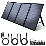 iClever 100W Foldable Solar Panel Charger for SUAOKI/Jackery/ROCKPALS Portable Power Station Generator, Quick Charge 3.0, 45W Type-C Power Delivery for Outdoor Camping Hiking Emergency