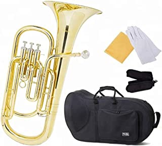 Stainless Steel Pistons Lacquer Brass B Flat Baritone Horn