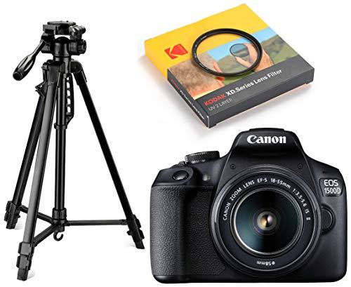 Canon EOS 1500D 24.1 Digital SLR Camera (Black) with EF...