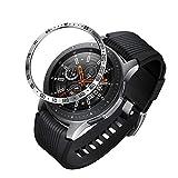 NotoCity Bisel Compatible Galaxy Watch 46mm/Galaxy Gear S3 Frontier & Classic Bezel Ring Anti-Rasguños & Colisión Acero Inoxidable(Negro,46mm)