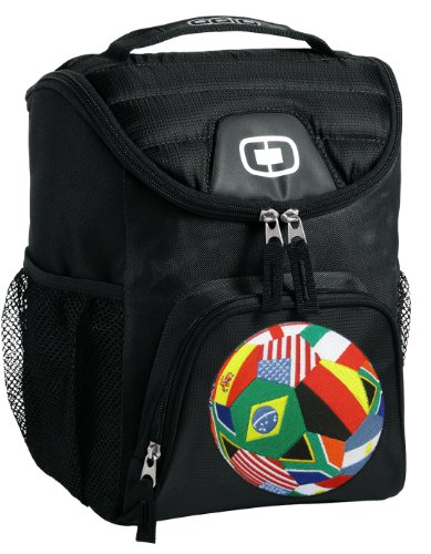 Soccer Lunch Bag Insulated Soft Cooler Black World Cup Fan Best Size Lunchbox