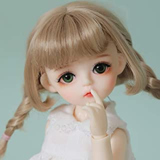 BJD Cute Doll 1/6 10inch 25.5cm, Body Clothes Shoes and Wig Included, Full Set Jointed Doll for 6 Year Old Girl and up, Gi...