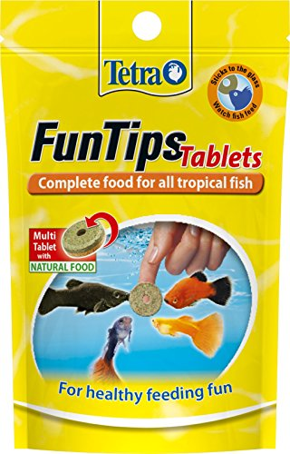 Tetra FunTips Tablets Fish Food, Complete Fish Food for All Tropical Fish for Healthy Feeding Fun, 20 Tablets
