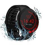 utry smartwatch,orologio fitness touch screen da 1,28 pollici, tracker fitness con cardiofrequenzimetro impermeabile ip68, activity tracker uomo donna per iphone android