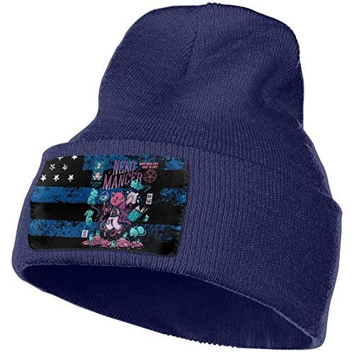 JONINOT Ne-Ko-Man-CER' Strickmütze Warme Hüte Mütze Schädelkappe Winter Tägliche Mütze Strumpfhut