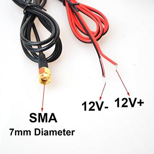 Voiture TV Radio FM Antenne Amplifiée Signal Amplificateur DVB-T ATSC ISDB TNT Analogique Disques 25db pour DVD GPS Stéréos de Unité Principale(SMA Adaptateur Jack)