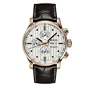 Mido MultifortSilver Dial Black Leather Mens Watch M0056143603100 image