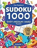 Fun Puzzlers Sudoku 1000: Easy, Medium & Hard Puzzles (Volume 1): Three levels of brain-challenging fun! (Fun Puzzlers Sudoku Books for Adults)