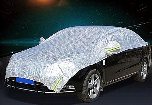 SUAIBEI Waterdichte autoafdekking, anti-UV regendichte aluminiumfolie, Oxford-doek, half-autoruiten