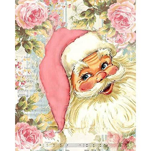 ATggqr Mini Puzzles de 1000 Piezas 50x75cm Sombrero de Santa Claus Rosa Juegos Educativos Puzzles Adolescentes Familia Educativa Intelectual Descompresión