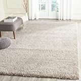 Safavieh California Premium Shag Collection SG151 2-inch Thick Area Rug, 8' x 10', Beige