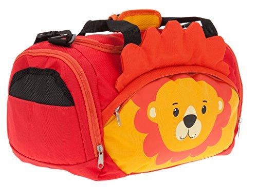 Sporttasche Jungen Mädchen Kinder Fabrizio Kindersporttasche Zoo Kindertasche 20478 + Elefant-Anhänger (Leon Löwe 0200)