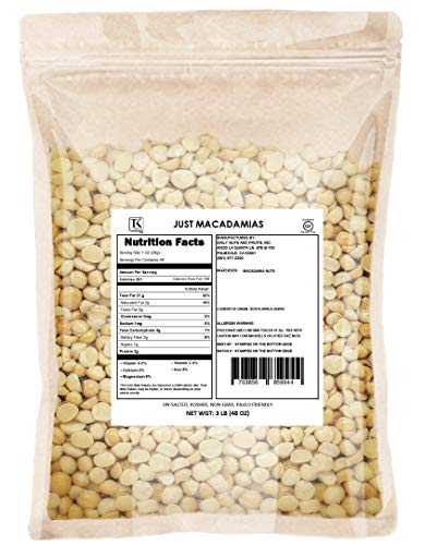 Just Macadamia Nuts (Raw, Non-GMO Project Verified, Certified Gluten Free, Healthy Fat, Wholesale Price)
