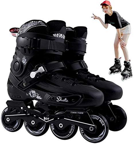 Inlineskates für Kinder und Erwachsene, professionelle Inlineskating-Schuhe, verstellbare Größen mit allen Rädern, leuchtend, bequeme Rollerblades für Jungen, Mädchen, Männer und Frauen, A||40
