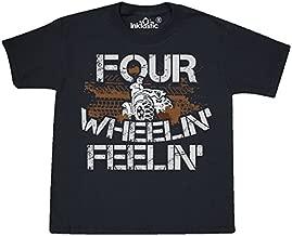 inktastic 4 Wheeling Mudding Activity Youth T-Shirt Youth Large (14-16) Black