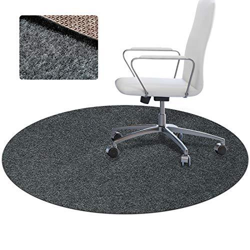 Office Chair Mat for Hardwood Floor,Floor Mat for Office Chair Wood Floor, Floor Mats for Rolling Chairs,1/5' Thick 47' Desk Chair Mat,Computer Chair Mats,Plastic Protector Rug Carpet Round