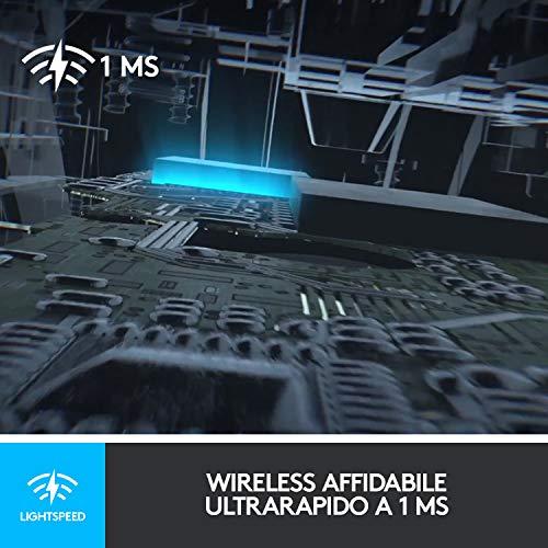 Logitech G G903 LIGHTSPEED Mouse Gaming Wireless con Sensore HERO 16K, Oltre 140 Ore con Batteria Ricaricabile e LIGHTSYNC RGB, Compatibile con POWERPLAY, Imballaggio per l'Europa occidentale, nero