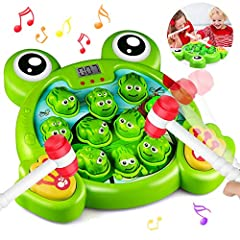 🐸Happy Parent-Child Interaction Toys:Whack Frog is the interactive toy for 3-8 year old children & adults to enjoy together.It's very nice and fun game to keep kids busy and funny.Develops baby's hand eye coordination,competitive spirit and competing...
