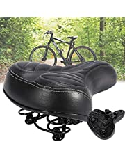 Sillín de bicicleta, cómodo, con bola amortiguadora de doble muelle, relleno de espuma de gel ergonómico, adecuado para bicicleta/bicicleta de montaña/bicicleta de carretera
