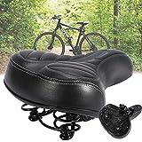 Sillín de bicicleta cómodo, gel ergonómico con bola de amortiguador de doble muelle, sillín de gel relleno de espuma de gel, asiento de bicicleta cómodo, adecuado para bicicleta/bicicleta de carretera