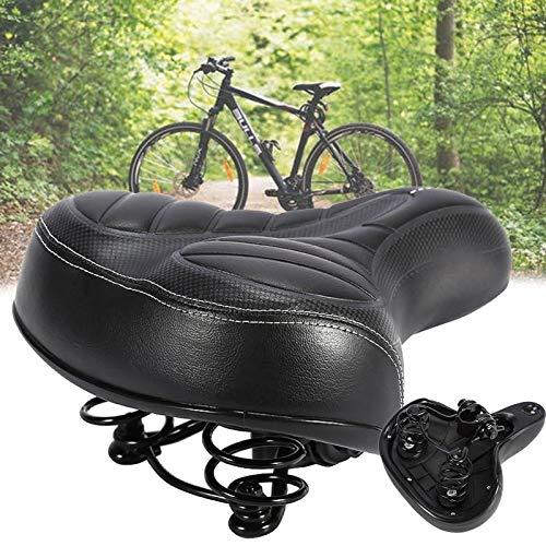 Selle de vélo confortable,Selle Velo Gel Ergonomique avec Boule d'Amortisseur à Double Ressort, Selle Gel Rempli de Mousse de Gel, Siège de Vélo Confortable Convient pour Bicyclette/VTT/Vélo de Route
