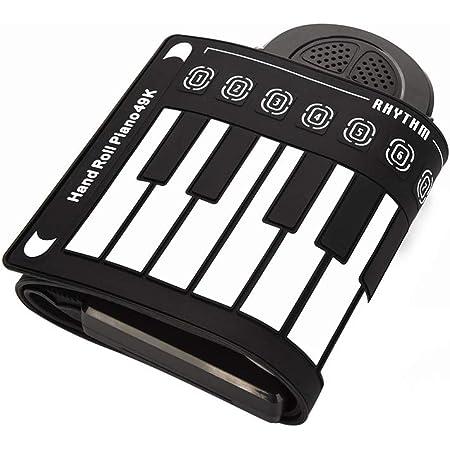 Drfeify Tienda de Piano Plegable, Teclado Electrónico Portátil de 49 Teclas Piano Enrollable a Mano para Niños Principiantes