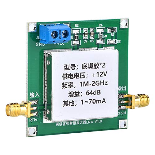 Weikeya Módulo de amplificador, metal y componentes electrónicos hechos 50 ohmios = 63.41 DB tablero amplificador de audio