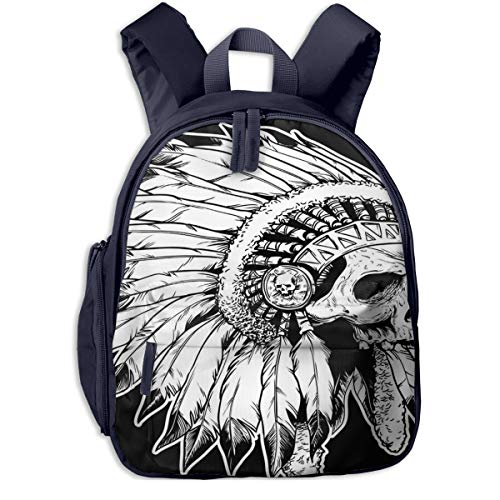 Mochilas Infantiles, Bolsa Mochila Niño Mochila Bebe Guarderia Mochila Escolar con American Apache Head Skull
