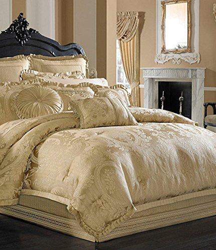 J Queen Napolean Gold 4 Piece Cal King Comforter Set
