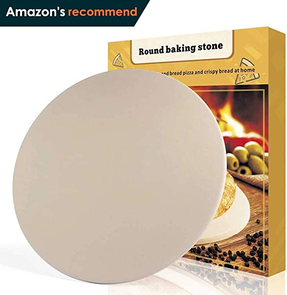 Pizza Stone 16 X 16 Round Engineered Tuff Cordierite Durable Baking Stones For Ovens Grill BBQ Stone Oven Round Pizza Stone