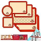 Aurrako Silicone Baking Mats for Cookie Baking Sheets Pan, 100% Silicone BPA Free Material,Heat Resistant Non Stick & Reusable Baking Tools Baking Supplies for Baking Cookie Macaroon Cake(6PCS)
