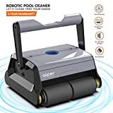 AIPER Automatic Robotic Pool Cleaner with Tangle-Free Swivel Cord, Large Filter Basket and Wall Climbing Function, Ideal for In-ground/Above Ground Swimming Pools up to 50 Feet