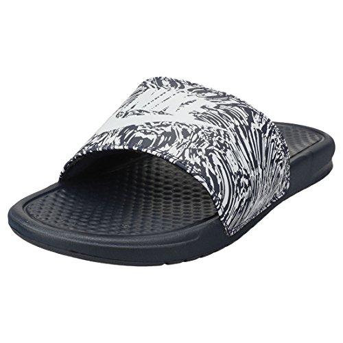 Nike Benassi JDI Print, Zapatillas de Gimnasia para Hombre, Gris (Obsidian/Pure Platinum 403), 44 EU
