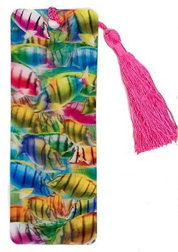 FISH 3D Lenticular Bookmark - With Tassel - Stocking Stuffer by 3Dstereo Bookmarks