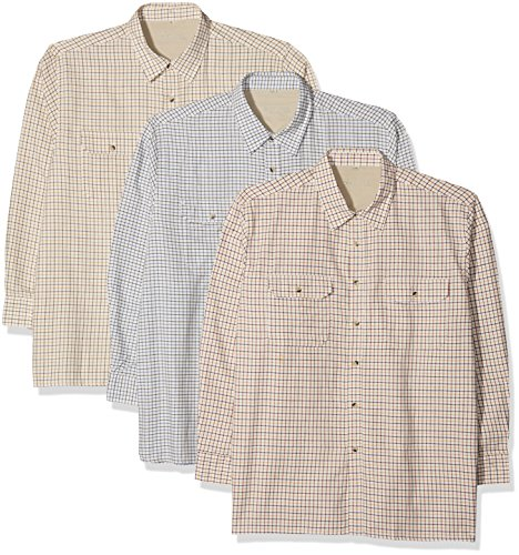 Sherwood Forest pour Homme Tattersall Chemise (Lot de 3) XXL Green/Blue/Red Check