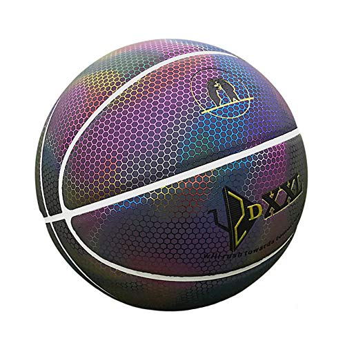 Learn More About DUTUI Reflective Basketball, Size 7 PU Holographic Basketball, Luminous Basketball,...