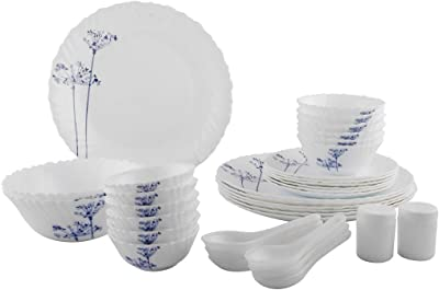 LaOpala Opalware Dinner Set - 35 Pieces, White