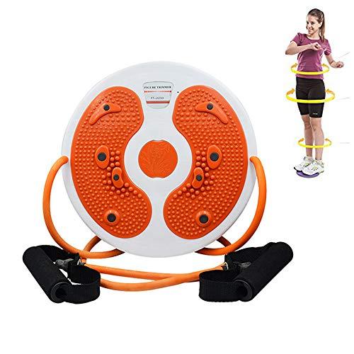 JZFUKSP Twisting Waist Disc mit Widerstandsband - Twister Balance Rotating Board für Knöchel, Taille, Arme, Hüften, Oberschenkel und Fuß Aerobic Fitness