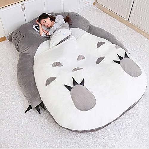 FBRNYQPM Totoro Colchón de Tatami Colchoneta para Cama Espesar Tatami Colchoneta Ideal para Dormitorio o Dormitorio, Cómodo Plegable Colchón Totoro Individual Doble Tatami,002,130 * 200
