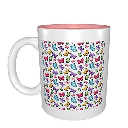 Colorido Butter-Fly mejor idea regalo de cumpleaños para tazas de porcelana