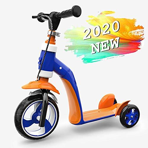 ZHANGCHUNLI Patinete 3 Ruedas Scooter para Niños Scooter for Niños, Patinete Plegable Altura Ajustable Desde 58cm~68cm Carga Máxima 40 kg (Color : Blue)