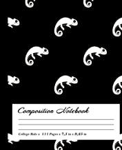 Chameleon Composition Notebook: Wide-Ruled, 7.5 x 9.25, 100 Pages, For kids, teens, and adults, Animals ,Chameleon