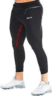 Mechaneer Men's Casual Sweatpants Bodybuilding Sportswear Running Trousers Zipper Pocket