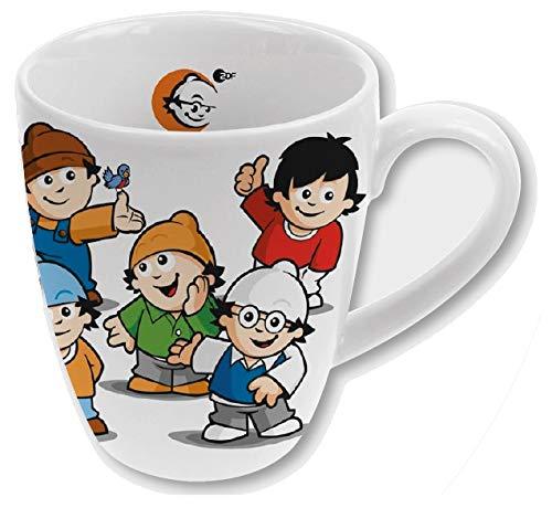 POS 29487 - Kaffeebecher mit den Mainzelmännchen All Together, bauchige Form, aus Porzellan, Füllmenge circa 330 ml