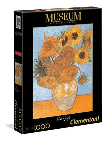 Clementoni 31438.6 - Van Gogh - vaas met zonnebloemen 1000-delig
