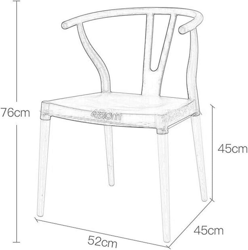 SHIJIAN Chaise de Salle à Manger en Bois Chaise de Chaise Chaise de Loisirs Nordique Chaise d'ordinateur Moderne Chaise de Bureau Chaise Simple (Color : Yellow) Gray