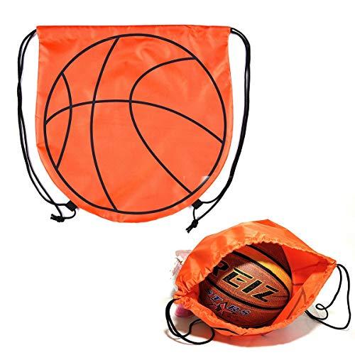 VerteLife Sport Balltasche Outdoor Training Tasche für Basketball Fußball Volleyball Ball-Aufbewahrungstasche Tragetasche Rucksack mit Kordelzug Turnbeutel Sportbeutel - Basketball Design