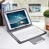 Hyuduo1 Funda Protectora Universal de PU para Tableta de 10 '' + Teclado Bluetooth, para computadora portátil de 9.7-10.1 Pulgadas/Tableta con función Bluetooth/teléfono móvil de Pantalla Grande