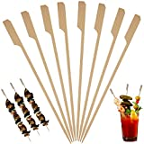 Bamboo Skewers for Cocktail and Appetizer Picks – (500 Pack / 7 Inch) Eco Friendly Wooden Cocktail Skewers and Bamboo Toothpicks for Bloody Mary Skewers Appetizers Food Garnish Sandwich Fruit Kabobs